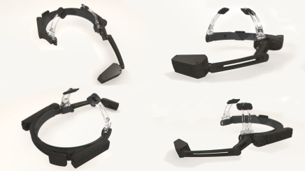 The Golden I headset from various angles