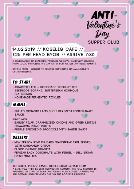 Ant-Valentines Menu and Poster