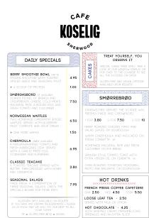 Simple menu design based on Scandinavian flags