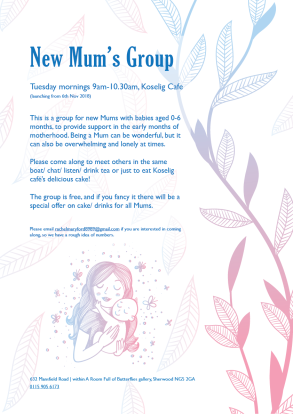 New mums club poster