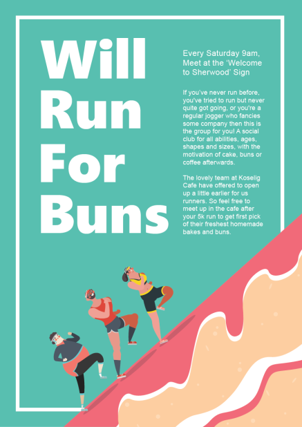 A3 Poster for Saturday Running club