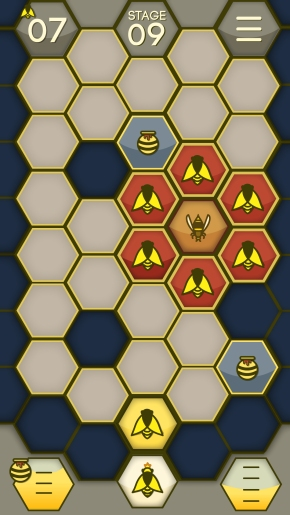 Gameplay shot of Bees attacking